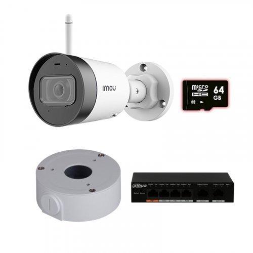 IP комплект видеонаблюдения для парадного с камерой IMOU Bullet Lite (IPC-G22P) + монтаж