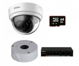 IP комплект видеонаблюдения для парадного с камерой IMOU Dome Lite (Dahua IPC-D22P)