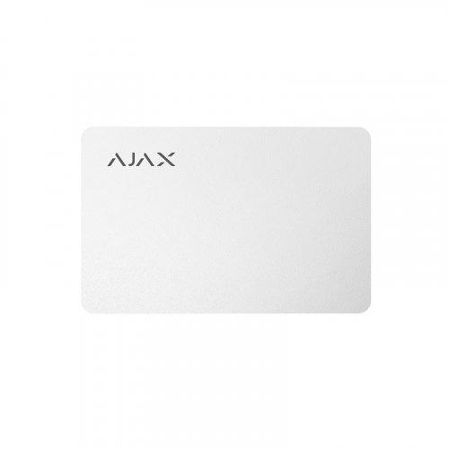 Защищенная бесконтактная карта для клавиатуры Ajax Pass белый (3 шт.)