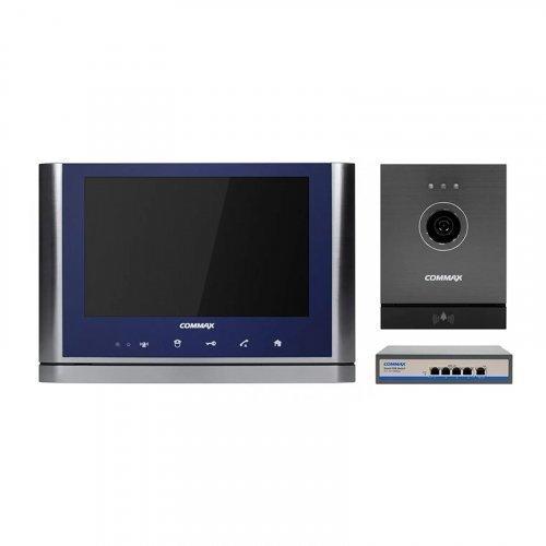 Комплект видеодомофона CIOT-1020M + Commax CIOT-D20M (A) c коммутатором