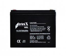 Гелевый аккумулятор Trinix АКБ 75 Ач, 12 В GEL