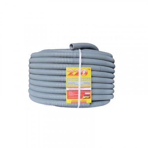 Гофротруба 220 TM Standart D 16 мм (100 м) cерая