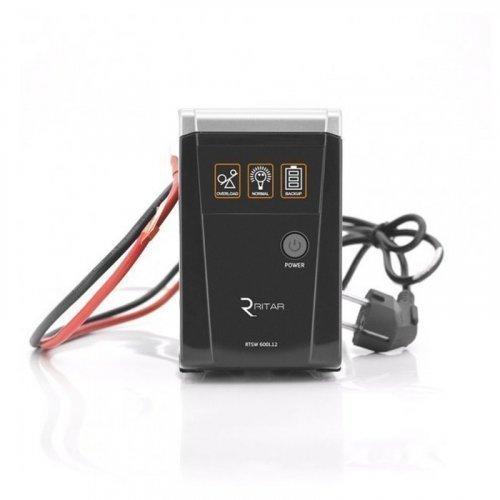 ИБП с правильной синусоидой RITAR RTSW-600 LED (360Вт)