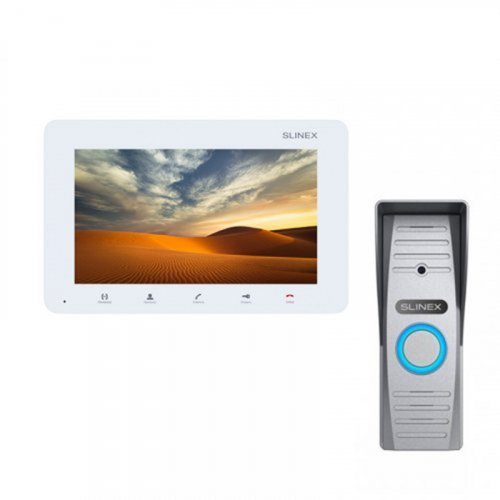 Комплект домофона Slinex SM-07MHD White и Slinex ML-15HD Silver