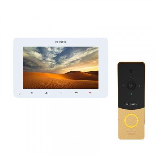 Комплект домофона Slinex SM‑07MHD White и Slinex ML-20HD Gold