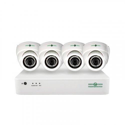 AHD комплект видеонаблюдения GreenVision GV-K-G01/04 720Р