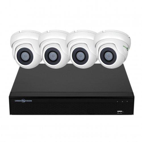AHD комплект видеонаблюдения GreenVision GV-K-S16/04 1080P