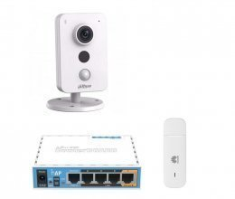 3G комплект видеонаблюдения с IP камерой DH-IPC-K35P