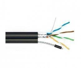 Кабель КППЭт-ВП (100) FTP-cat.5E, OK-net, (СU), наружный на стальной жиле-проводе