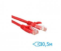 CNM SecureUTP 0.5 Cat.5e литой красный RJ45, CU
