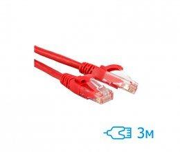 CNM SecureUTP 3м Cat.5e литой красный RJ45, CU