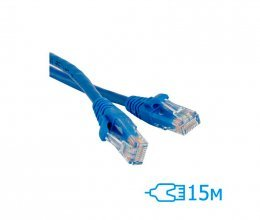 CNM SecureUTP 15м Cat.5e литой синий RJ45, CCA