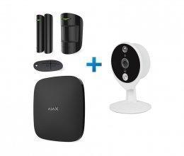 Ajax StarterKit черный + IP-видеокамера Tecsar Airy TA-2