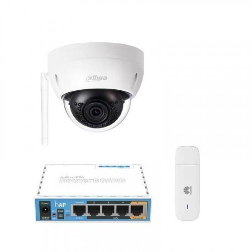3G комплект видеонаблюдения с IP камерой DH-IPC-HDBW1120E-W