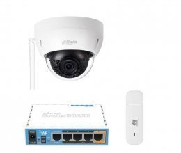 3G комплект с IP камерой DH-IPC-HDBW1120E-W