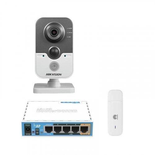 3G комплект видеонаблюдения с IP камерой Hikvision DS-2CD2442FWD-IW