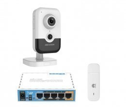3G комплект с IP камерой Hikvision DS-2CD2455FWD-IW