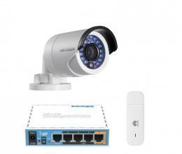 3G комплект с IP камерой Hikvision DS-2CD2020F-IW