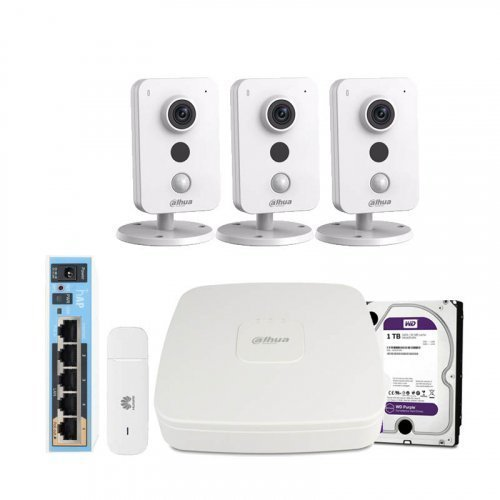 3G комплект видеонаблюдения Dahua 3M-3IN-HDD
