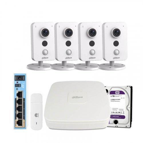 3G комплект видеонаблюдения Dahua 3M-4IN-HDD