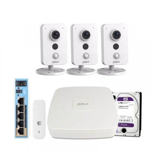 3G комплект видеонаблюдения Dahua 4M-3IN-HDD