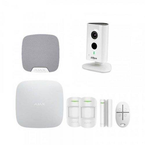 Комплект сигнализации ajax для квартиры + камера dahua dh-ipc-c35p
