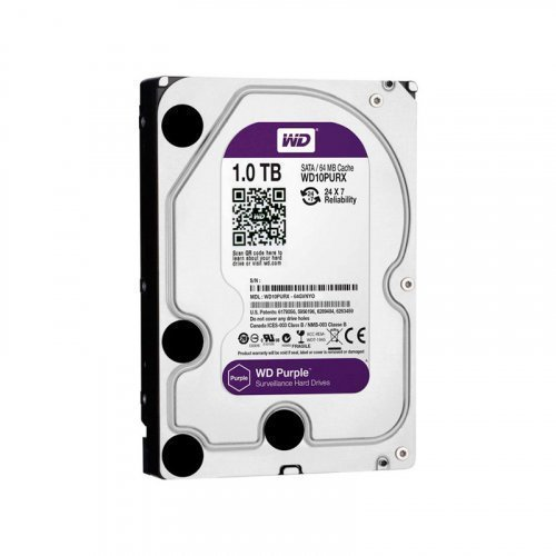 Жесткий диск HDD Western Digital Purple 1TB 64MB WD10PURZ 3.5 SATA III