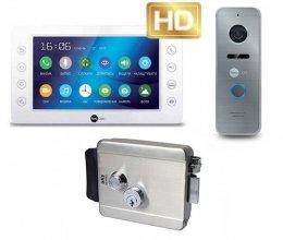Комплект домофона  Neolight Kappa+ HD и NeoLight Prime FHD (Pro) Silver + Atis Lock SS
