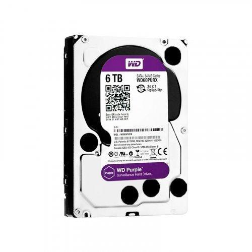 Жесткий диск HDD Western Digital Purple 6TB 64MB WD60PURZ 3.5 SATA III