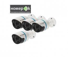 IP-видеокамеры Tecsar IPW-2M-20F-poe + ПО НомерОК 4 канала