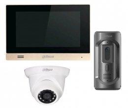 Комплект домофона  Dahua DH-VTH1550CHM и Dahua DHI-VTO2101E-P-S1 + камера