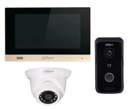 Dahua DH-VTH1550CHM и Dahua DH-VTO2111D-WP + камера