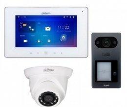 Комплект домофона  Dahua DHI-VTH5221DW-S2 и Dahua DHI-VTO3211D-P-S1 + камера