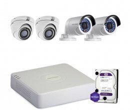 Hikvision TURBOHD-2M-4COMBI-HOME-HDD-LITE