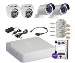 Hikvision TURBOHD-1M-4COMBI-HOME-FULL