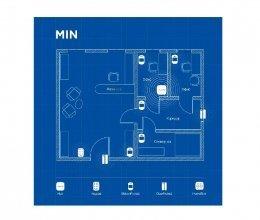 Беспроводная охранная сигнализация для офиса MIN
