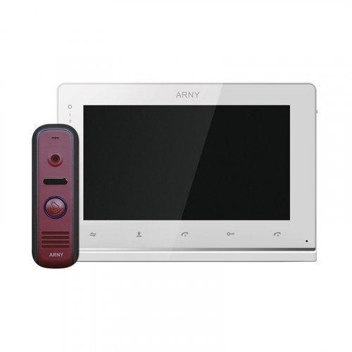 Комплект домофона  ARNY AVD-7110 Белый \ Красный