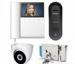 Комплект домофона  Commax CDV-43K2 и Commax DRC-4CPN3 + камера + ARNY Rim SS