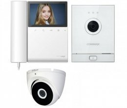Commax CDV-43K2 и Commax DRC-41M White + камера