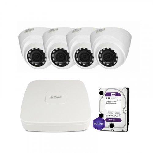 HDCVI комплект видеонаблюдения Dahua CVI-2M-4DOME-Lite
