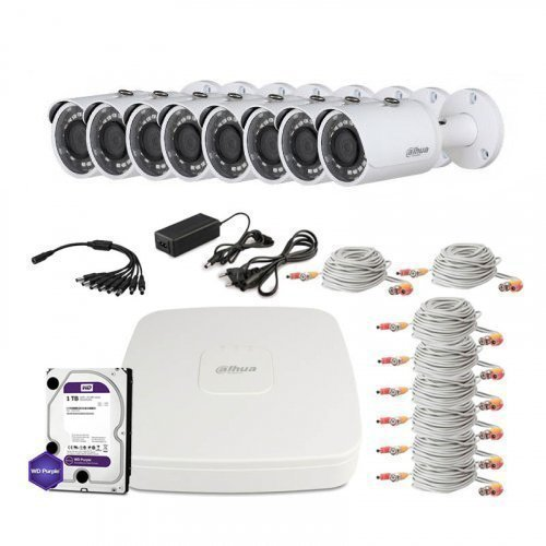 HDCVI комплект видеонаблюдения Dahua CVI-1M-8OUT-Lite-Full