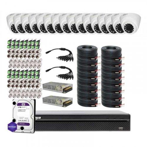 HDCVI комплект видеонаблюдения Dahua CVI-4M-16DOME-Lite -Full