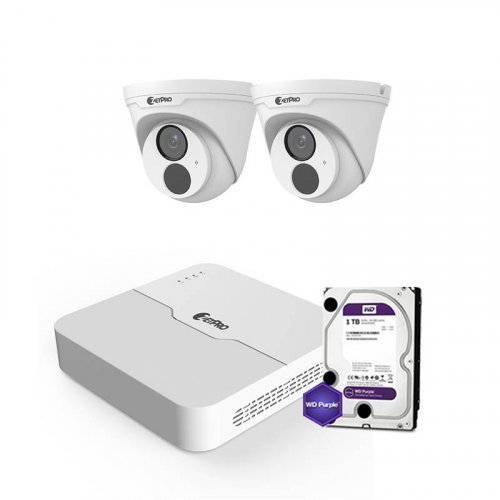 IP комплект видеонаблюдения ZetPro IP-2M-2DOME-Lite
