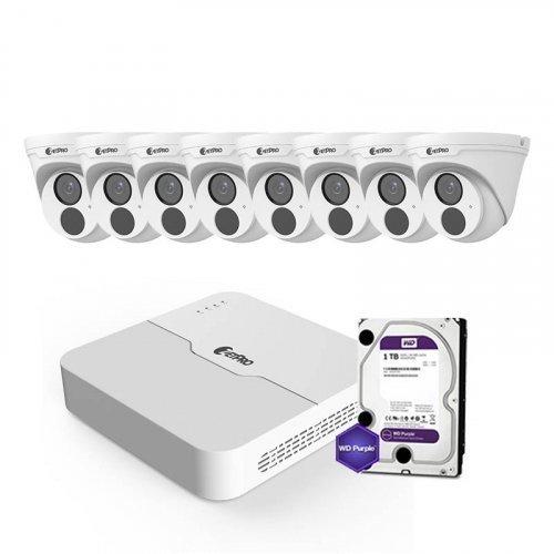 IP комплект видеонаблюдения ZetPro IP-2M-8DOME-Lite
