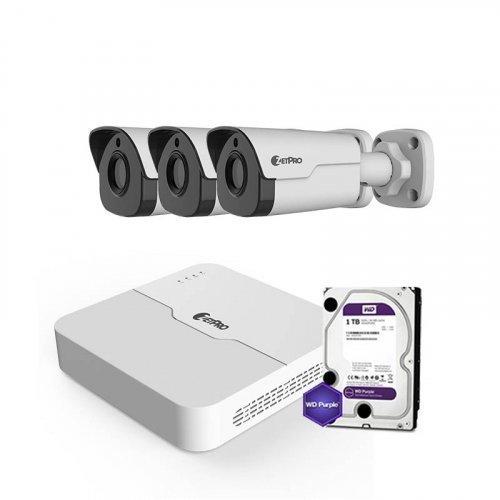 IP комплект видеонаблюдения ZetPro IP-4M-3OUT-Lite