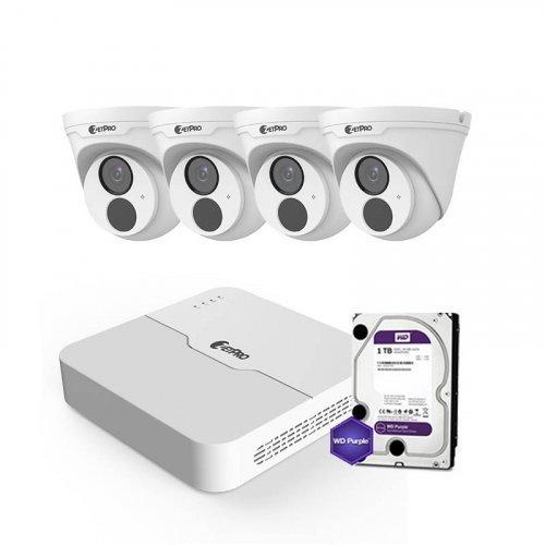 IP комплект видеонаблюдения ZetPro IP-4M-4DOME-Lite
