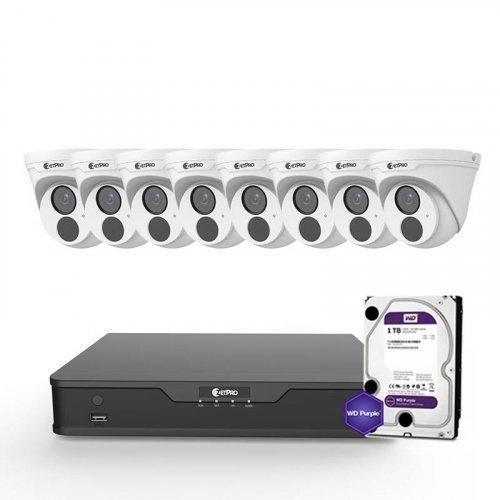 IP комплект видеонаблюдения ZetPro IP-4M-8DOME-Lite