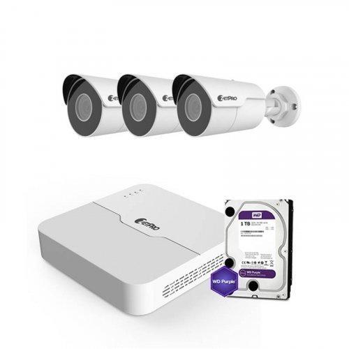 IP комплект видеонаблюдения ZetPro IP-8M-3OUT-Lite