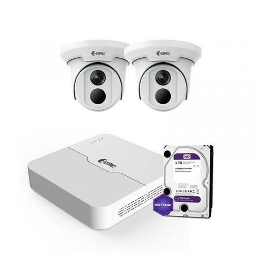 IP комплект видеонаблюдения ZetPro IP-8M-2DOME-Lite
