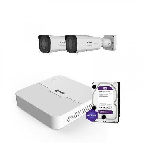 IP комплект видеонаблюдения ZetPro IP-2M-2OUT-Pro